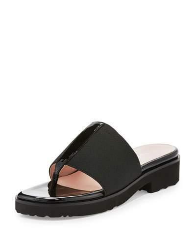 Taryn Rose Torte Stretch Thong Sandal, Black