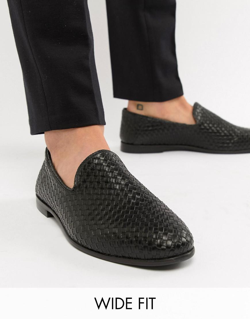 fe0bdb7606c Kg Kurt Geiger Kg By Kurt Geiger Wide Fit Woven Loafers - Black ...