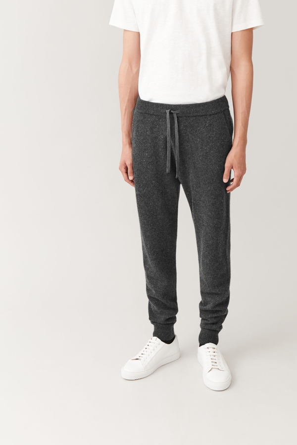 Cos Cashmere Joggers In Grey