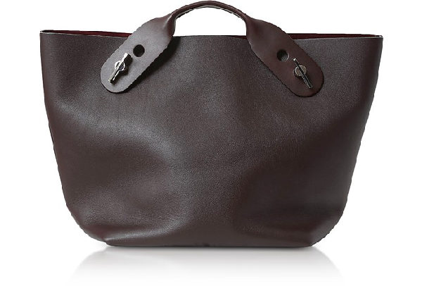 Sophie Hulme Oxblood Soft Leather Bolt Tote In Burgundy