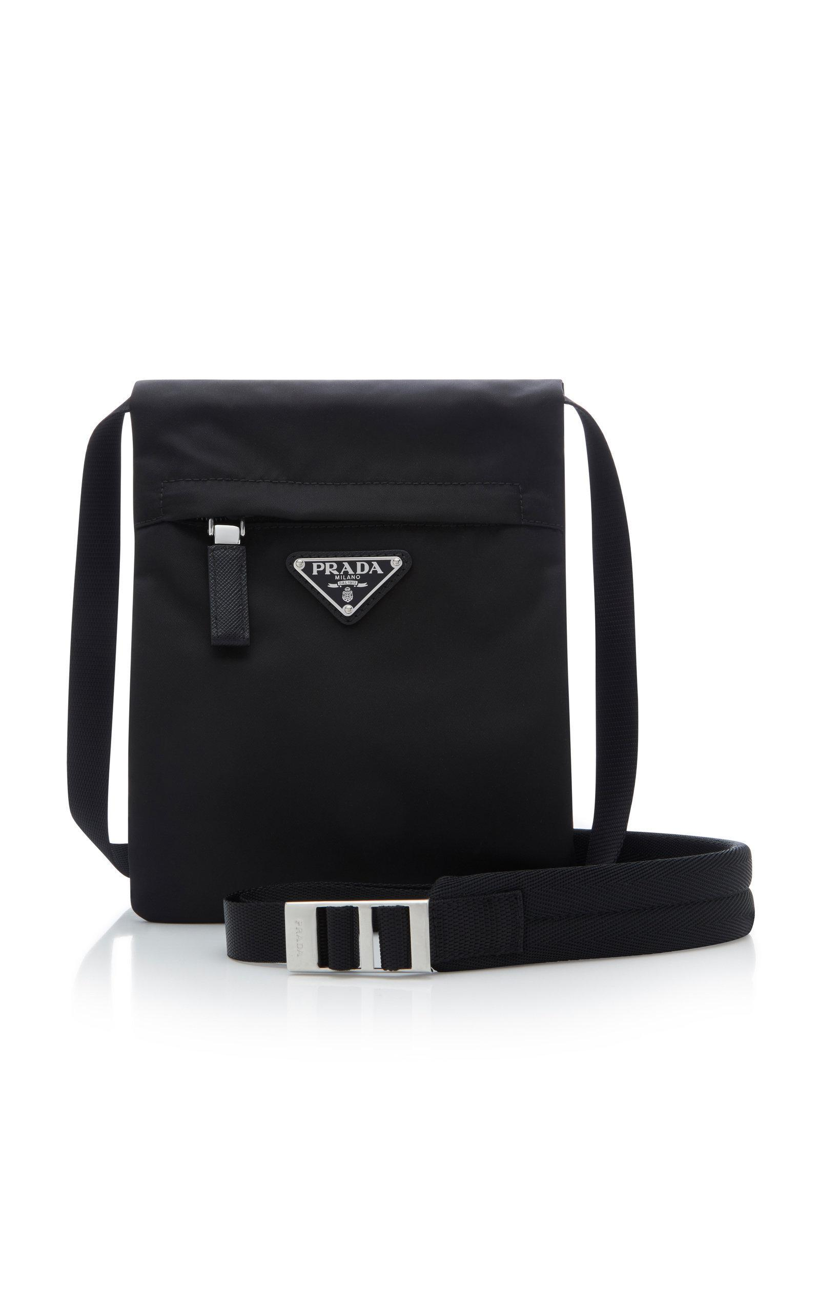 Prada Small Technical Crossbody Bag In Black