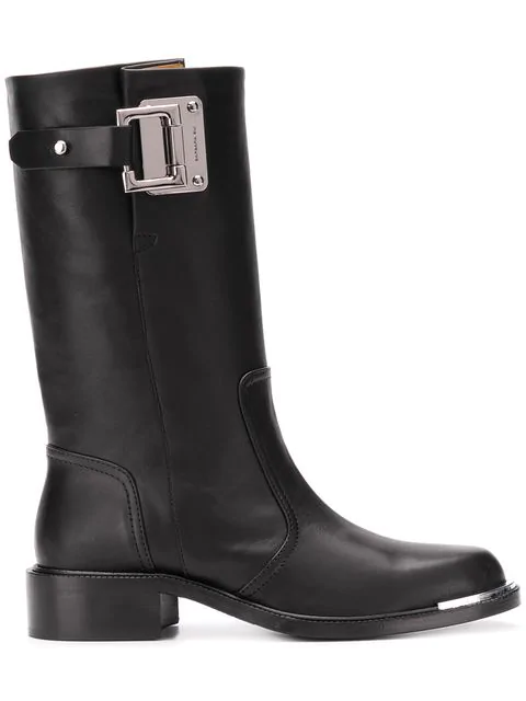 Barbara Bui High Ankle Biker Boots In Black