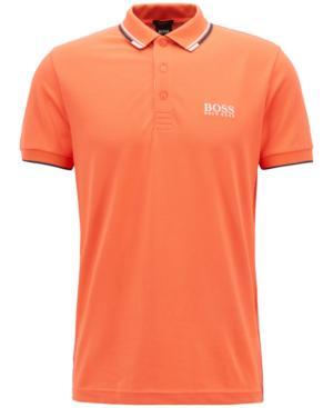 Hugo Boss Boss Men's Regular/Classic-Fit Polo In Open Red