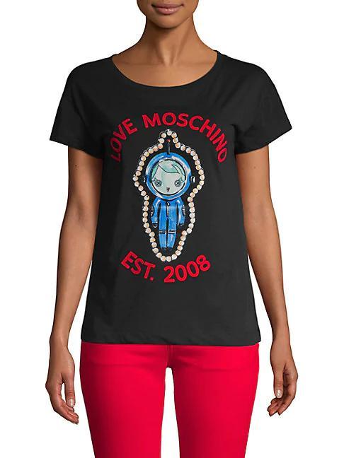 564033fd3 Love Moschino Graphic Cotton Tee In Black | ModeSens
