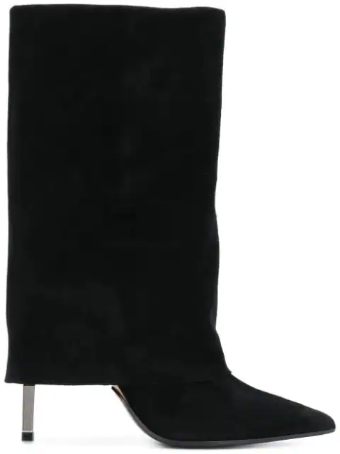 Balmain Babette Black Suede And Leather