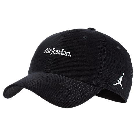 0916cd03 Nike Jordan Heritage86 Corduroy Strapback Hat, Men'S, Black | ModeSens