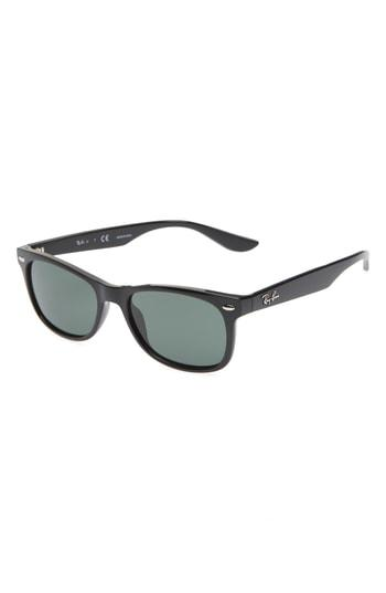 bfc6bc9712 Ray Ban Junior 48Mm Wayfarer Sunglasses - Black  Green Solid