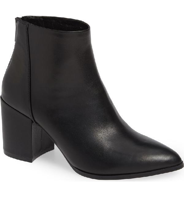 45607c9a33d Steve Madden Jillian Bootie In Black Leather