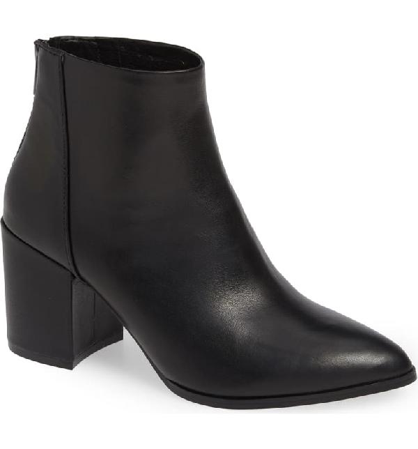 0496a4d49 Steve Madden Jillian Bootie In Black Leather | ModeSens
