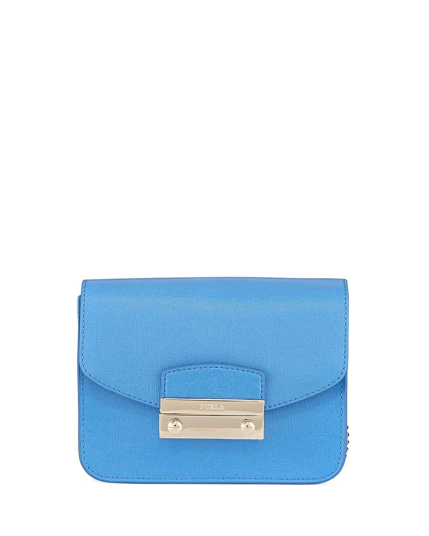 0a289c7e5eba Furla Julia Mini Leather Crossbody Bag In Celeste C