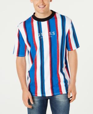 ed99ceec4a Guess Originals Men's Striped Logo T-Shirt In Blue   ModeSens