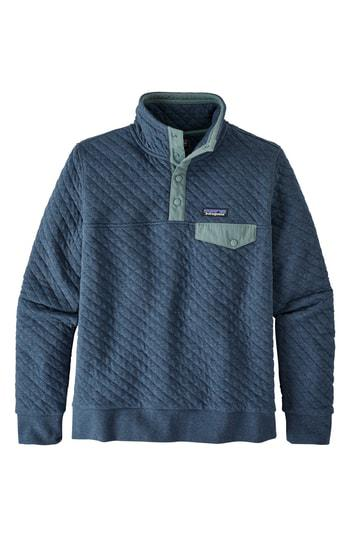Patagonia Snap-T Quilted Pullover In Snbl