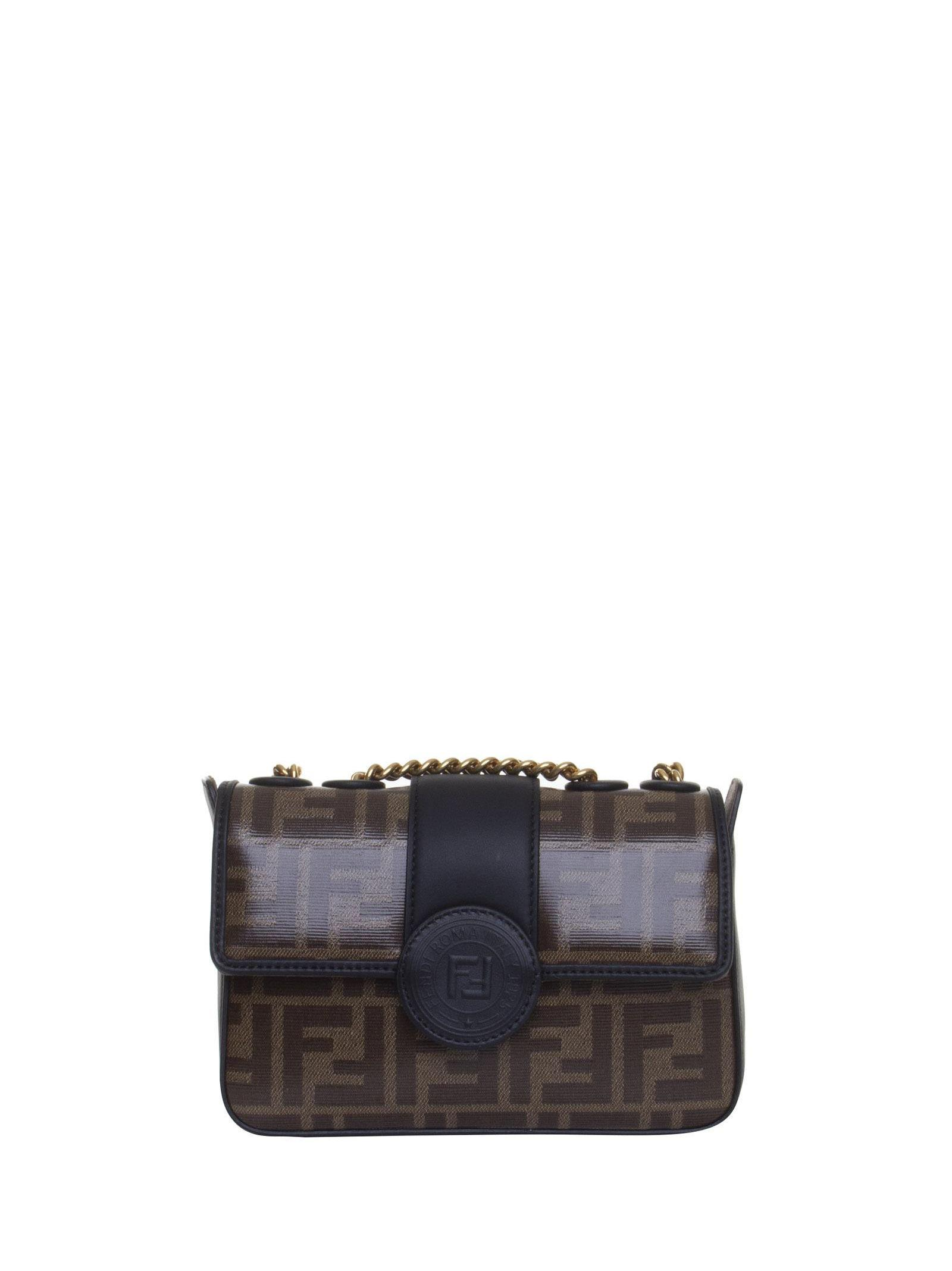 6af94c2774 Fendi Double F Mini Bag In Nero