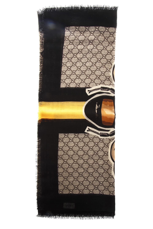 b717e09c96e7 Gucci Gg Supreme Bee Motif Scarf In Multi | ModeSens