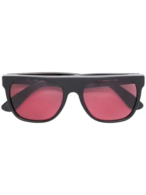 Retrosuperfuture Flat Top Sunglasses In Black