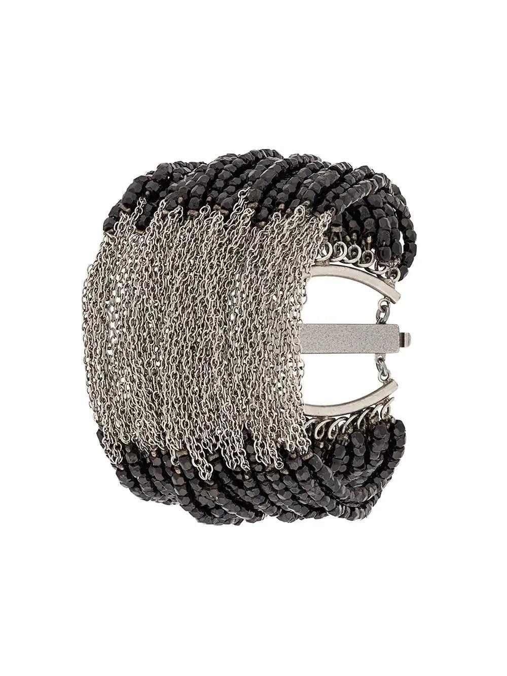 Marc Le Bihan Chain Embellished Bracelet - Black
