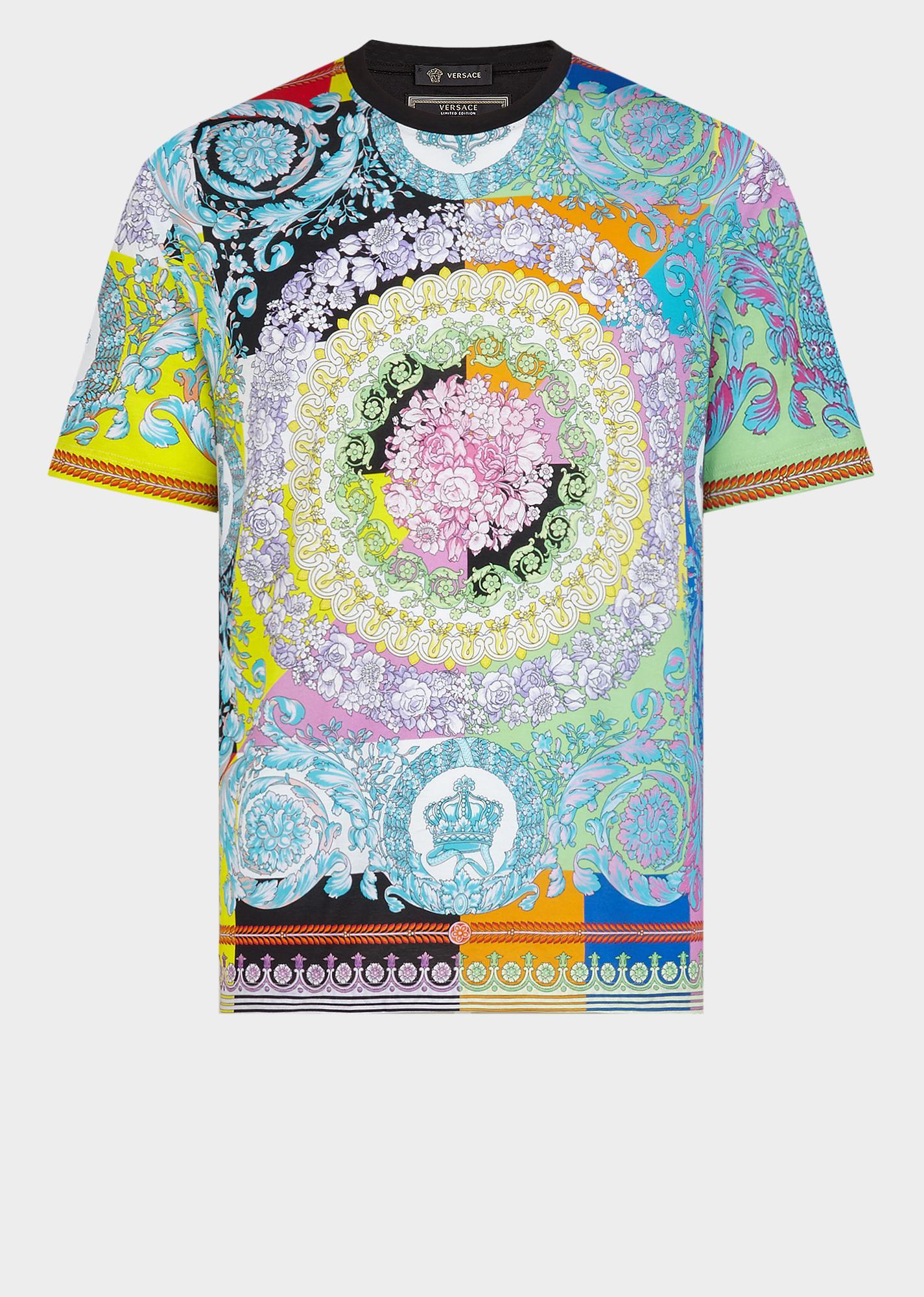 65852bc0fe Men's Technicolor Baroque Print T-Shirt