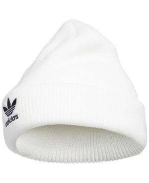 0618a8127a530 Adidas Originals Adidas Trefoil Beanie - White In White Black