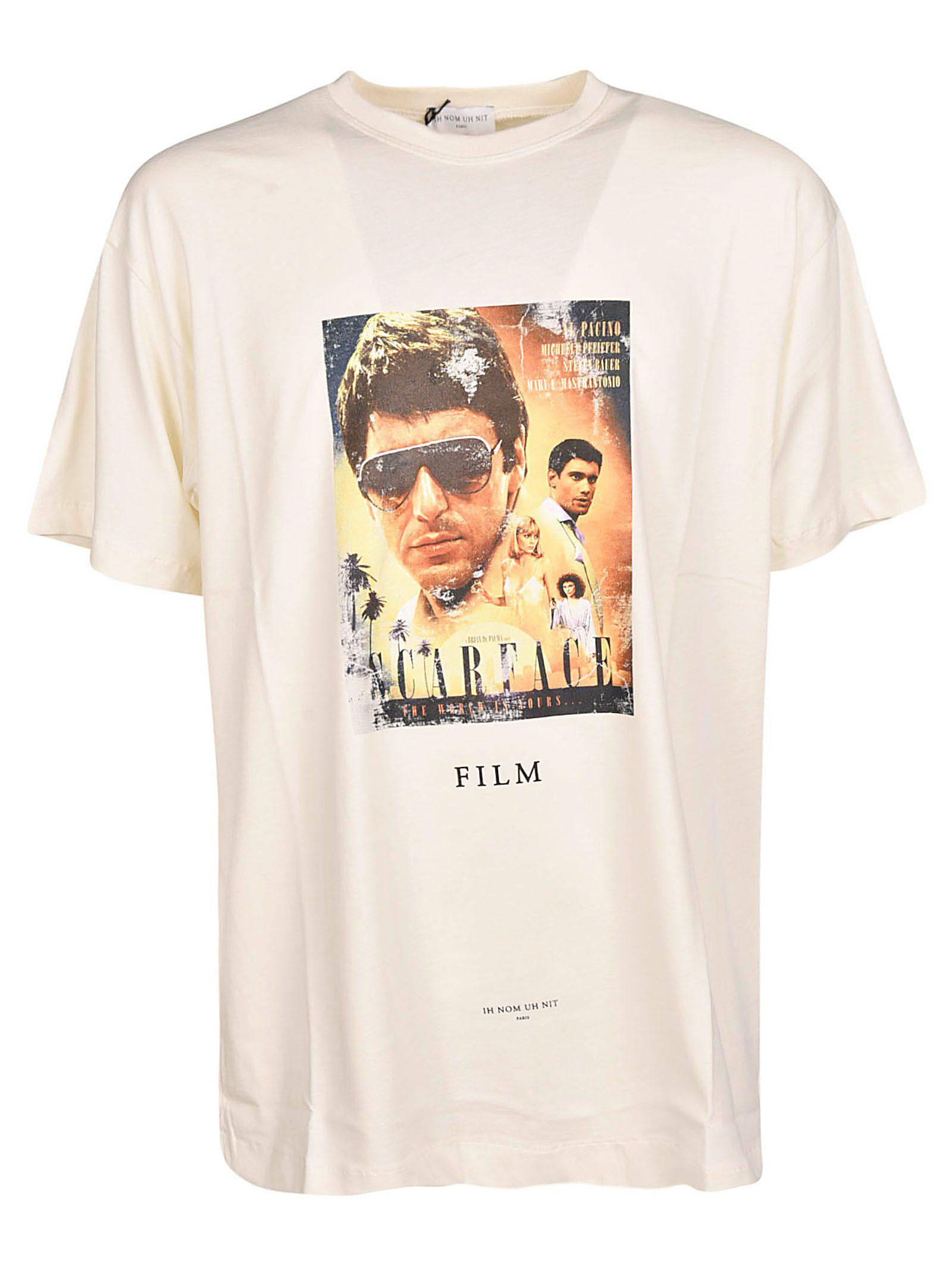 Ih Nom Uh Nit Scarface Movie Poster T-Shirt In White