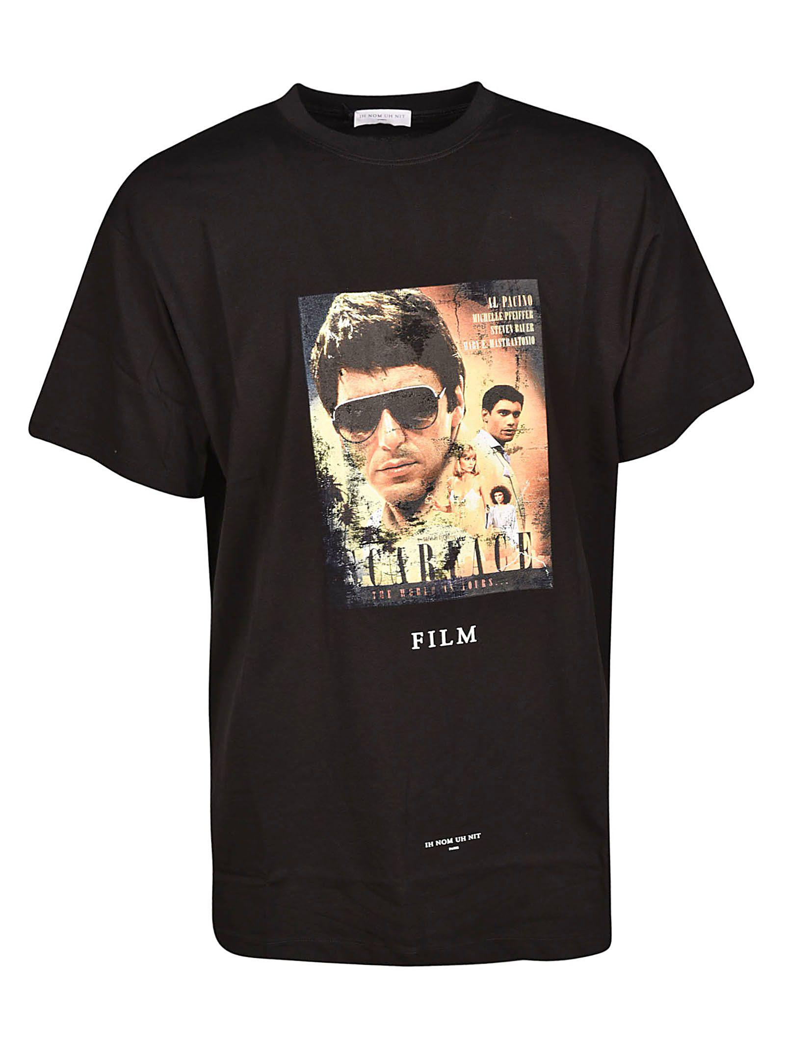 Ih Nom Uh Nit Scarface Movie Poster T-Shirt In Black