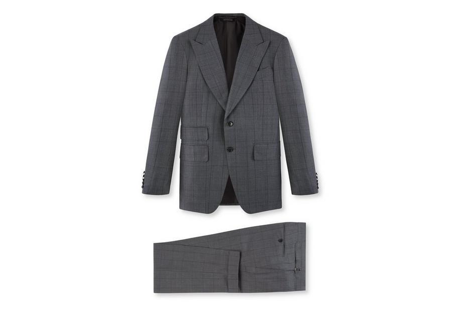 Tom Ford Wool Check Shelton Suit