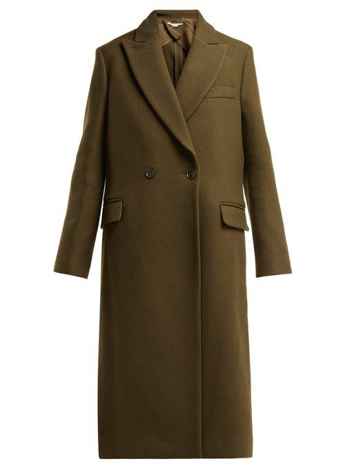 Stella Mccartney Catherine Double-Breasted Wool Coat In Green