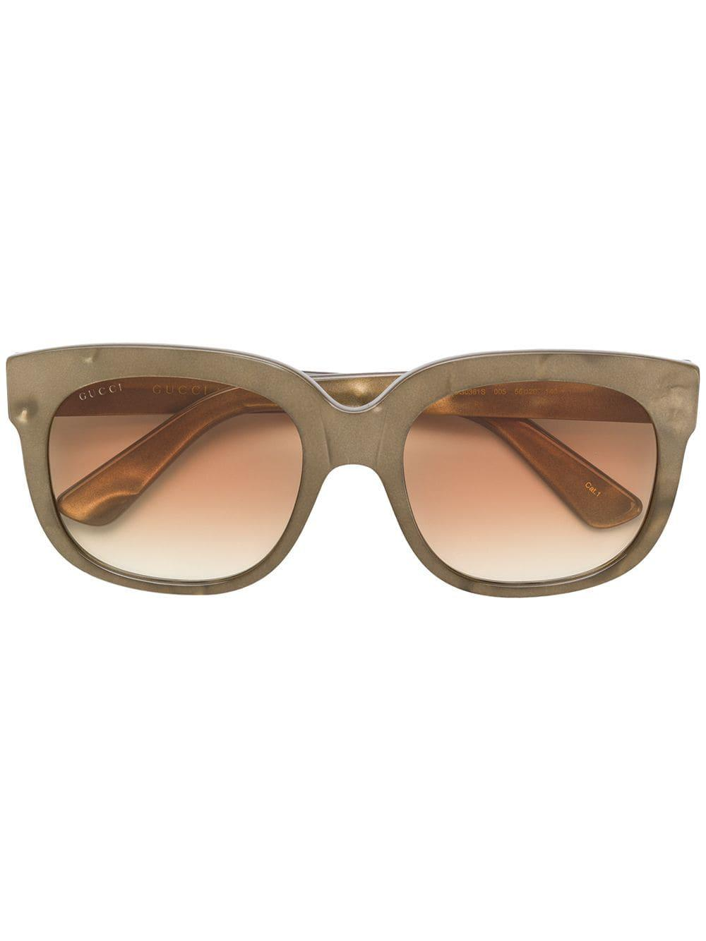 ee52dd431f6 Gucci Eyewear Classic Mass-Shape Sunglasses - Neutrals