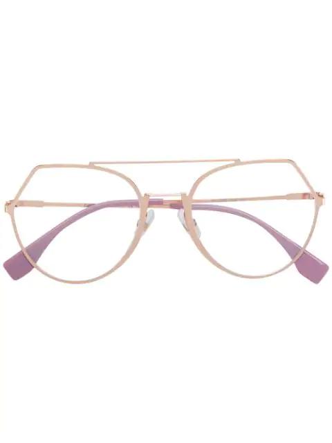 Fendi Prescription Glasses In Gold
