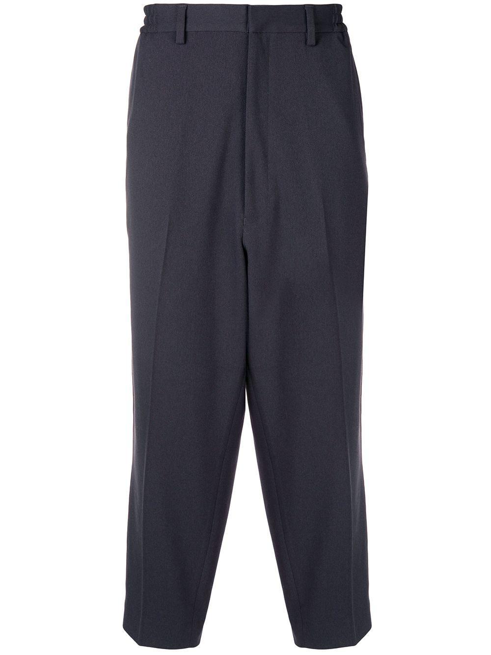 N.hoolywood N. Hoolywood Cropped Wide-leg Trousers - Grey