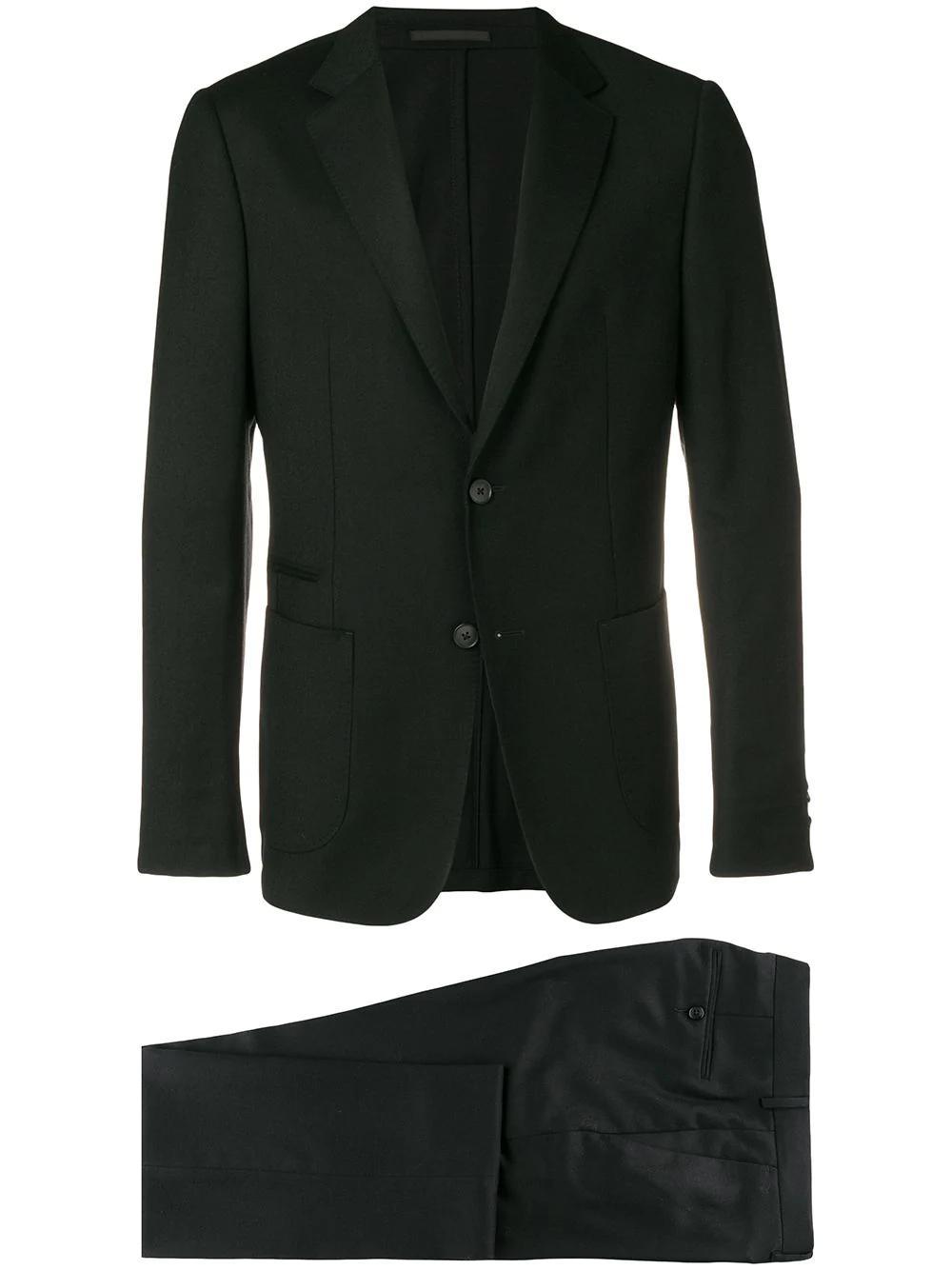 Z Zegna Schmaler Anzug - Schwarz In Black