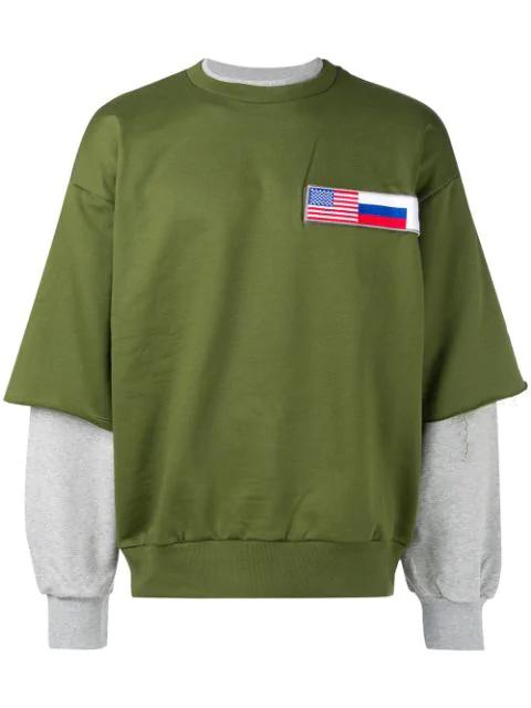 Gosha Rubchinskiy Layered Sweatshirt - Green