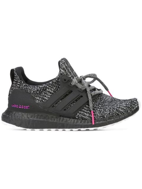 Adidas Originals Ultraboost 4.0 'breast Cancer Awareness' Sneakers In Black ,grey