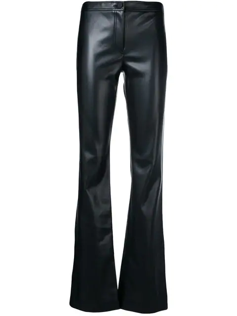 Theory Faux Leather Trousers In Black