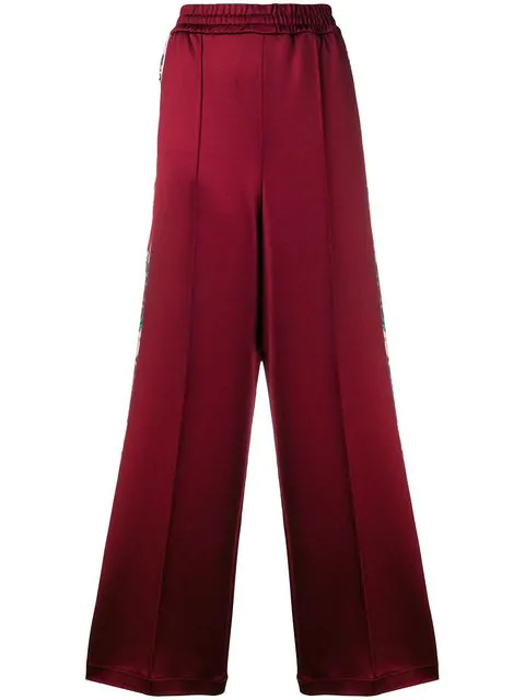 Golden Goose Sophie Wide-leg Trousers In Red
