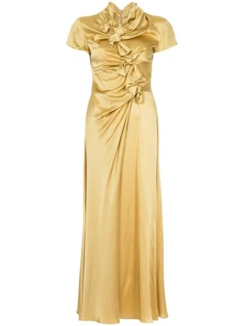 Saloni Knot Detail Gown - Gold
