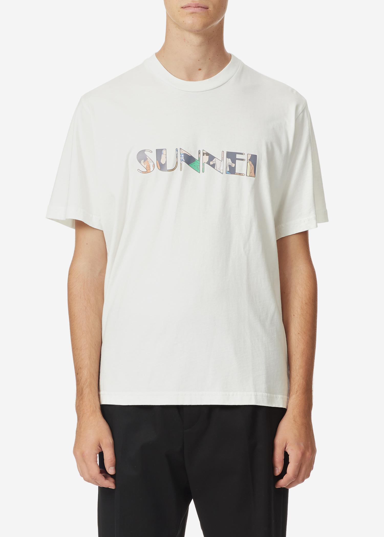 Sunnei Logo Print S/s T-shirt In White
