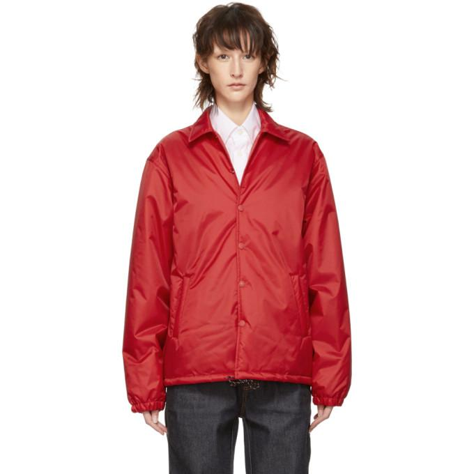 Marni Dance Bunny Red Bunny Patch Rain Jacket In 00r64 Red