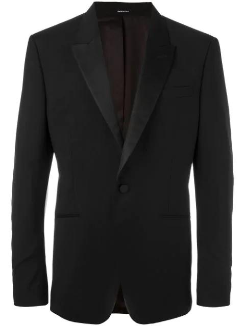 Alexander Mcqueen One Button Blazer In Black