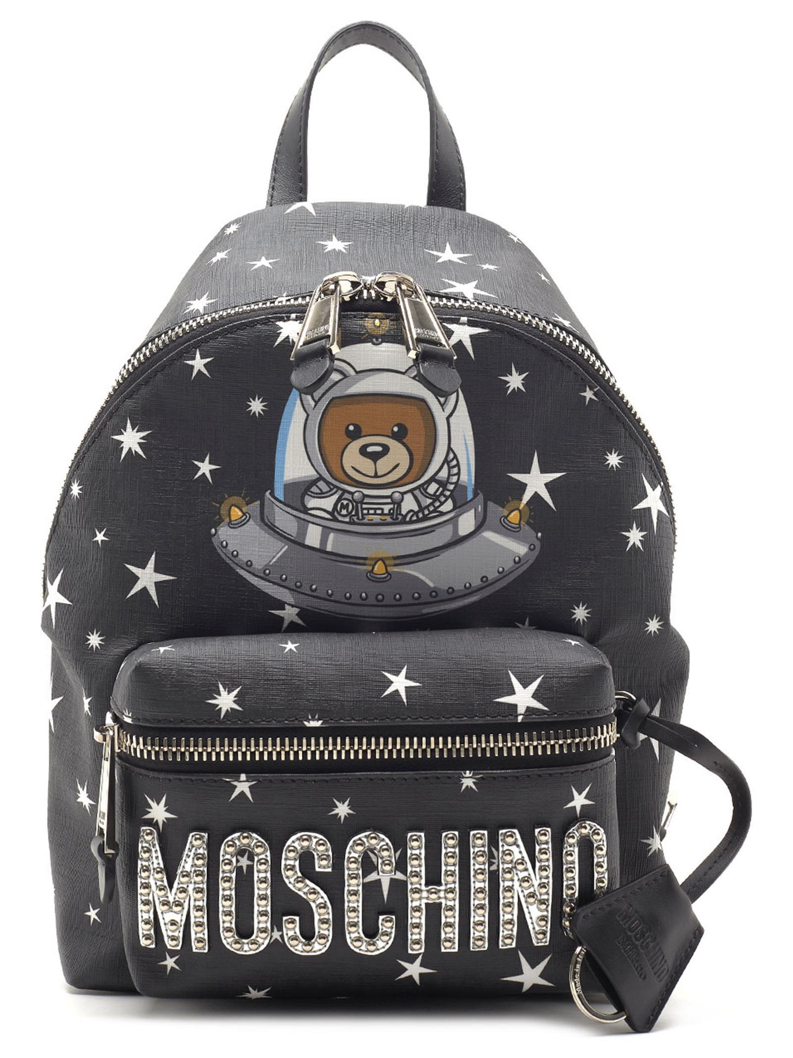 Moschino 'teddy Ufo' Backpack In Black