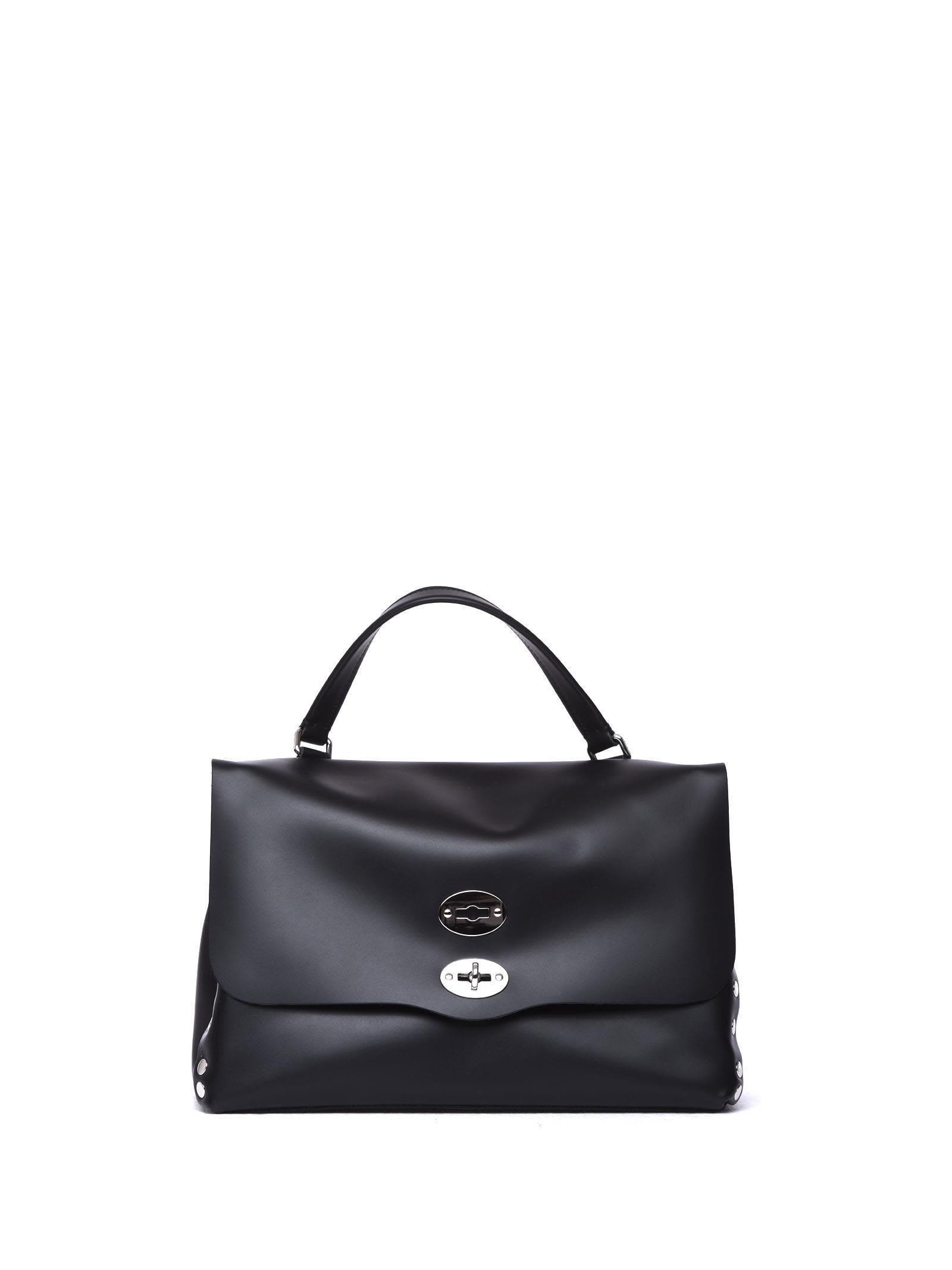 Zanellato Postina-bag M Original Silk Dark Brown In Nero