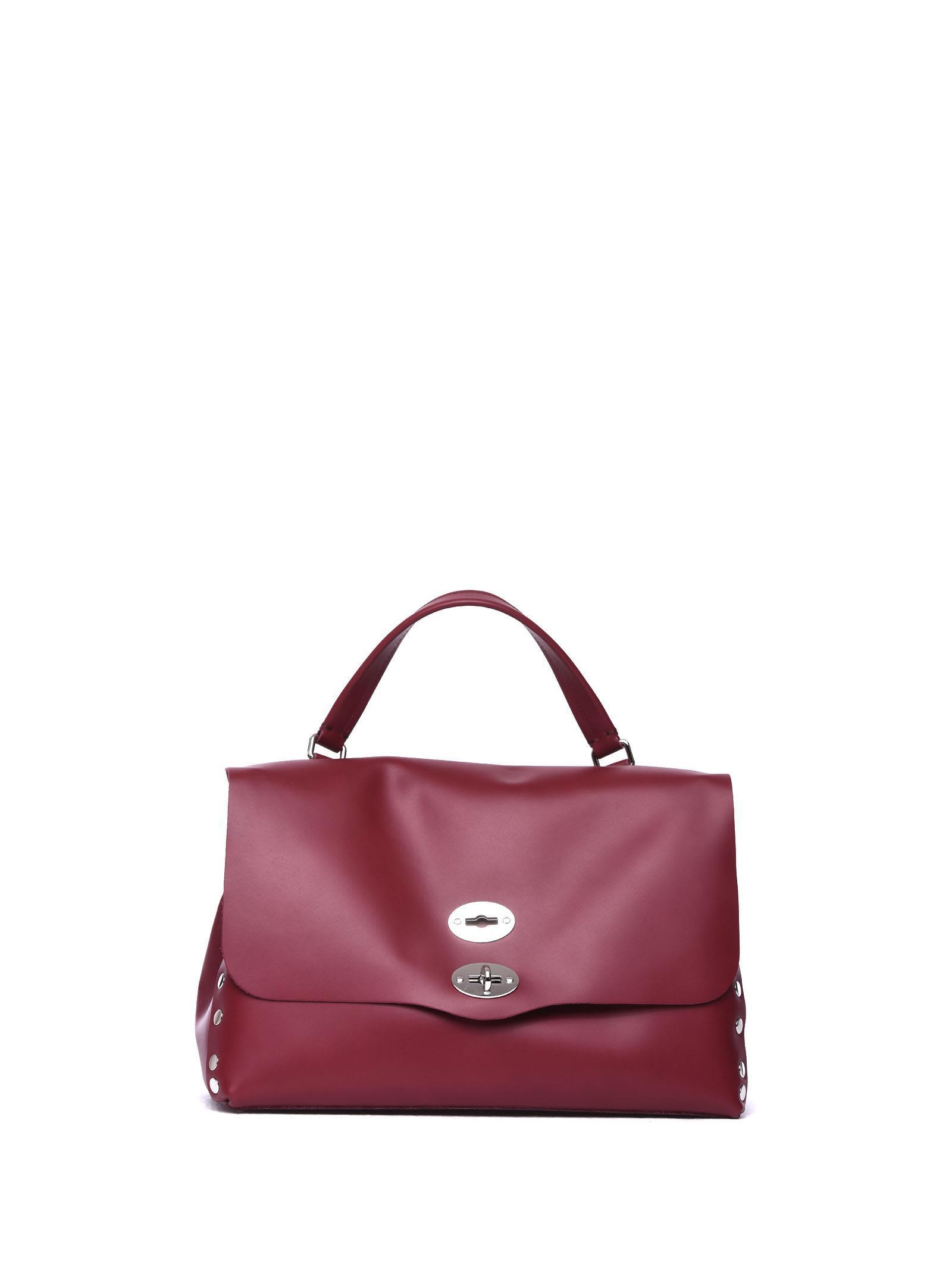 Zanellato Postina-bag M Original Silk Red In Terra Di Fuoco