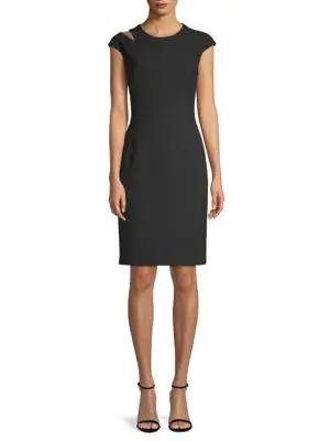Hugo Boss Danouk Cutout Sheath Dress In Black