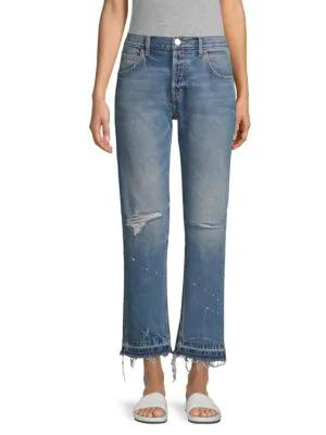 Current Elliott The Throwback Ankle Jeans In Ryle Destroy
