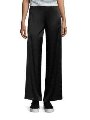Vince Fluid Wide Leg Pants In Black