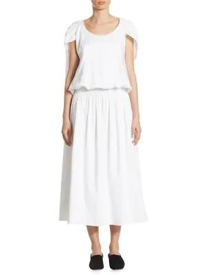 The Row April Cape Dress In White