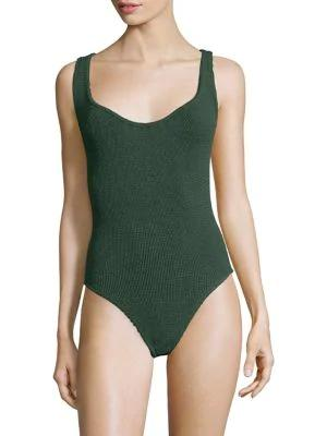 Hunza G Zora One-piece Swimsuit In Forest Green