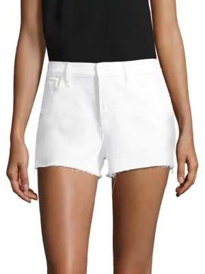 J Brand Ex Cut-off Denim Shorts In White