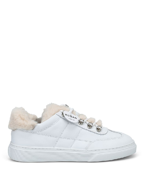 Hogan Laced Shoes In White