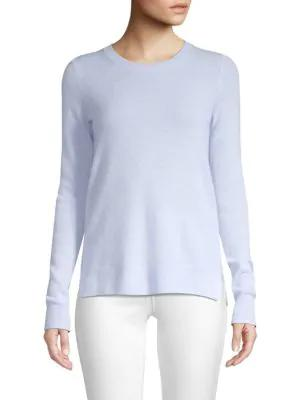 Saks Fifth Avenue Collection Featherweight Cashmere Sweater In Light Blue
