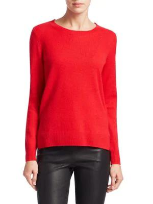 2909458478 Saks Fifth Avenue Collection Featherweight Cashmere Sweater In Red Apple